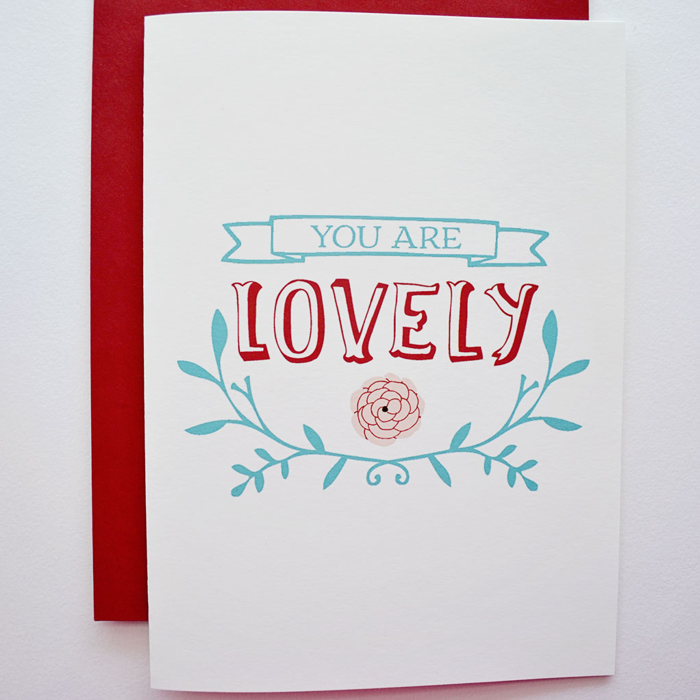 Card front - close up