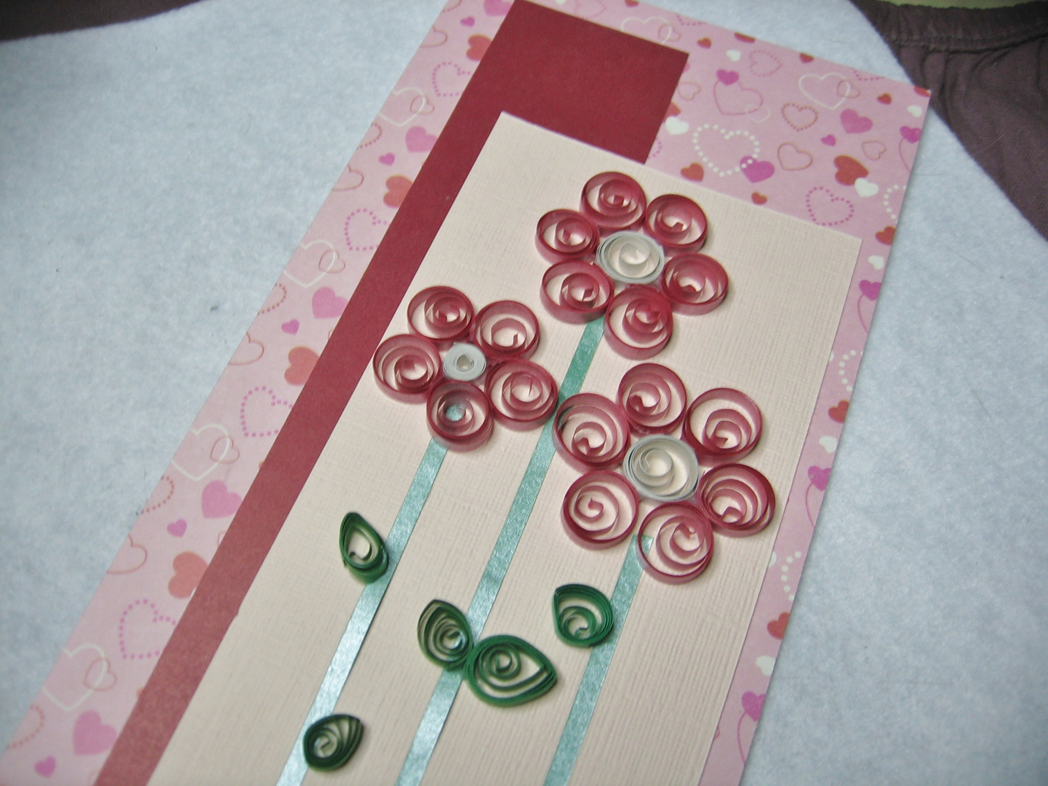 Tall Quilled Flower Note Card