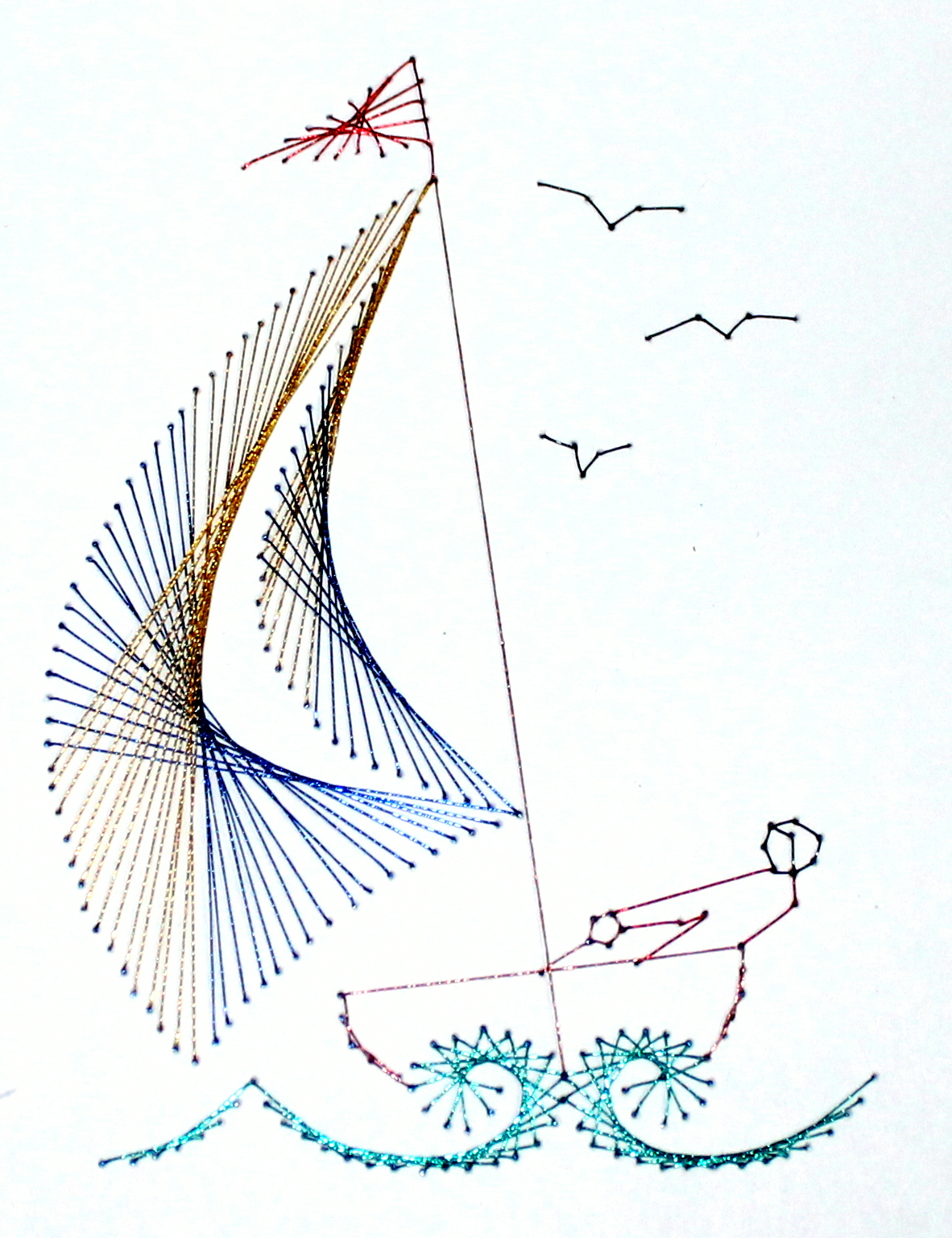Stitched Sailboat