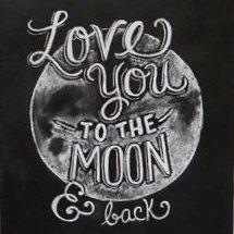 Love You To The Moon Note Card