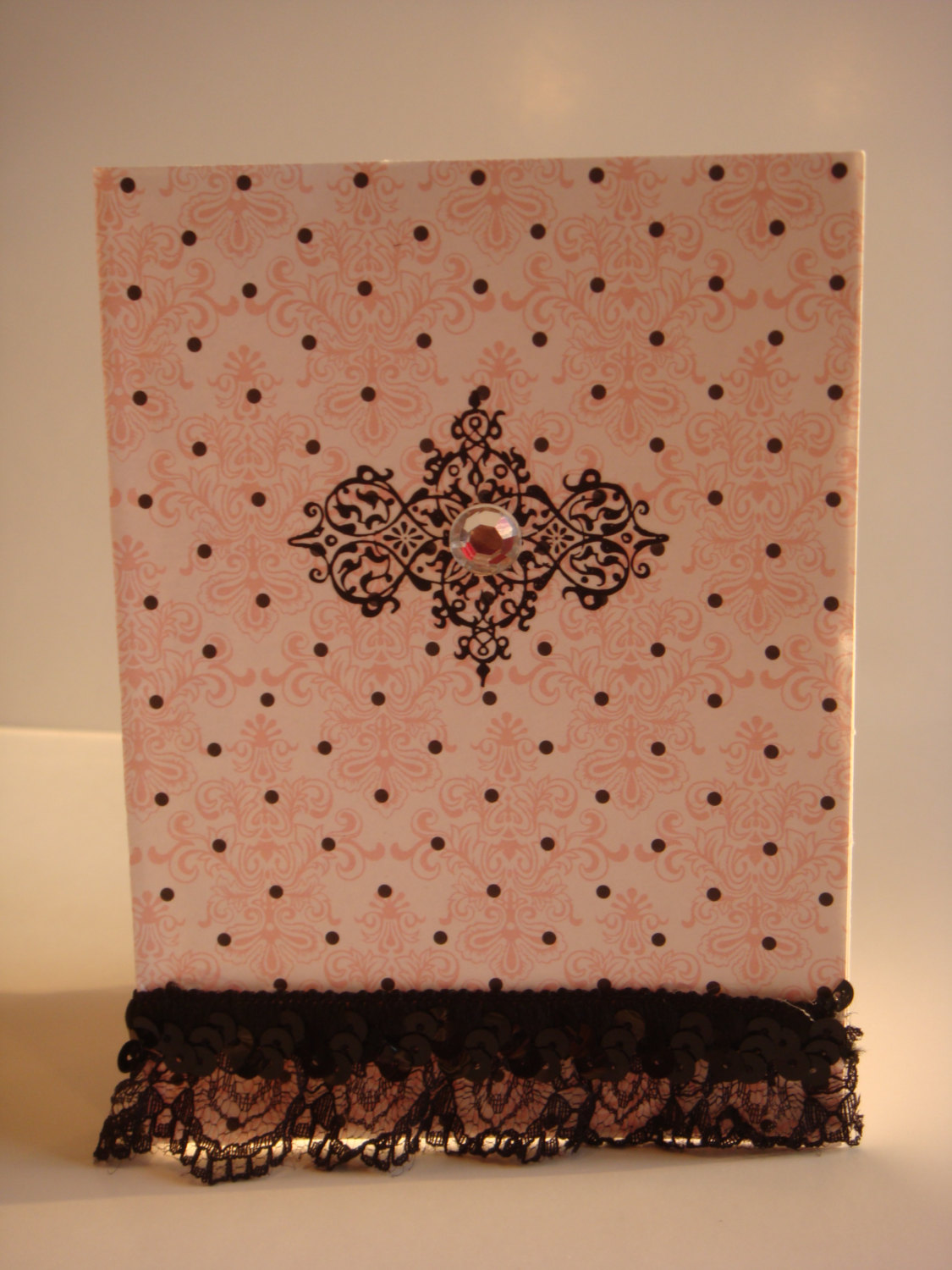 Pink Faith Polka Dot Lace Card