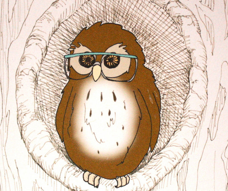 Hoo Hoo Owl in Glasses