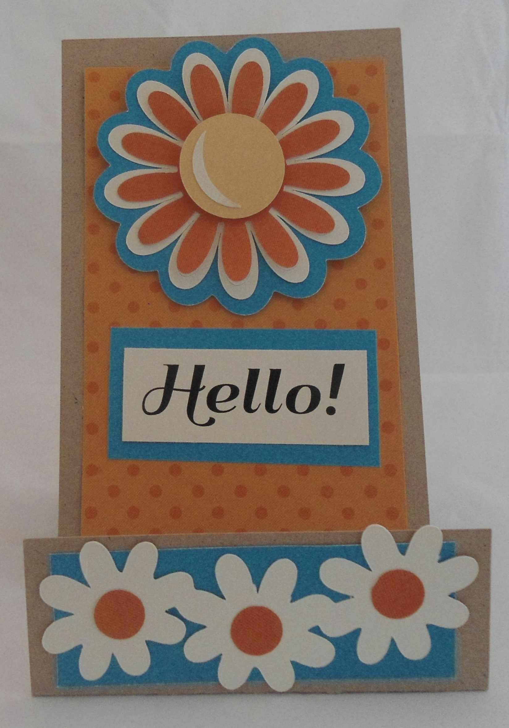 Bright & Bold Daisy Hello - Orange