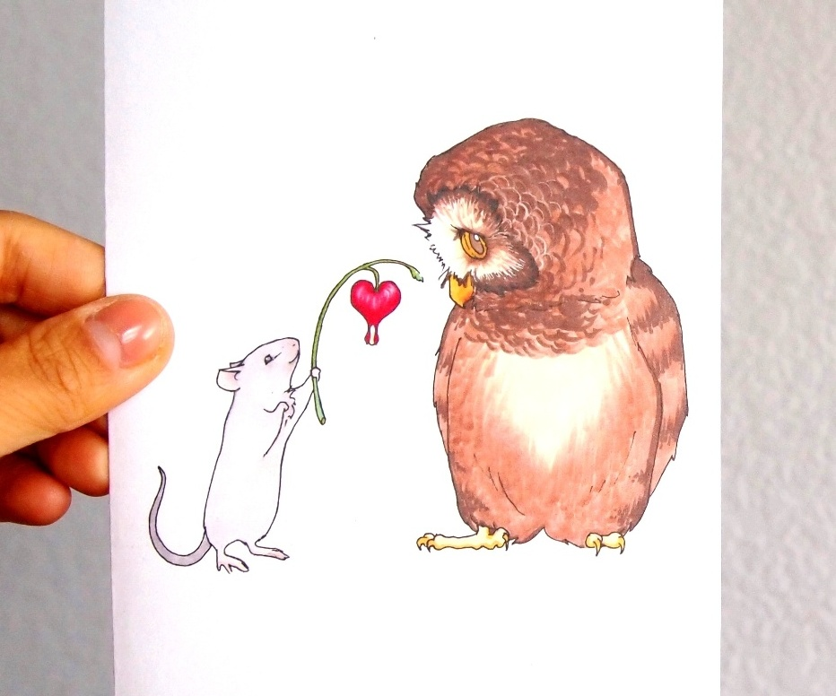 Sweet Mother's Day Cards, Thank you Owl and Mouse