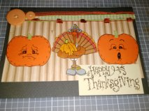 Turkey Day Thanksgiving Pumpkin Card