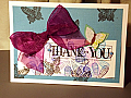 Thank You Purple Ribbon and Butterfly