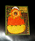 Handmade Paper Pieced Adorable Candy Corn Sweetest Greetings Card