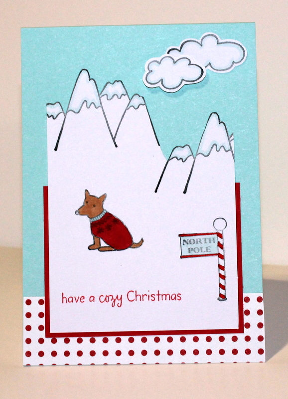 Cozy Christmas Dog
