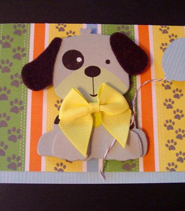 Gray Wooden Dog Birthday