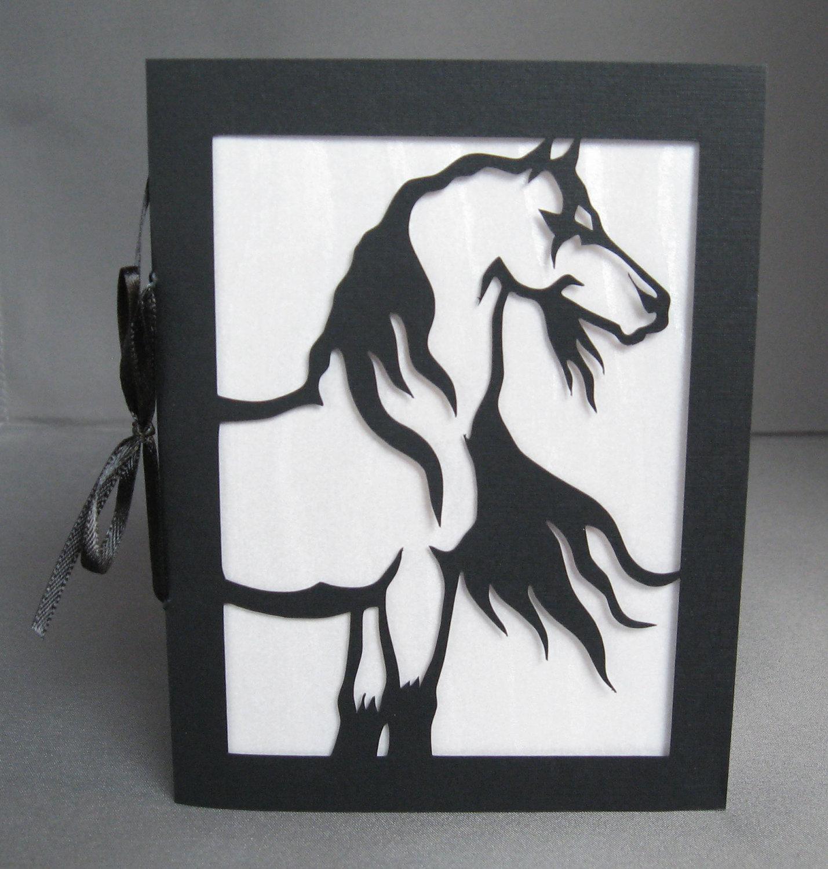 WILD MUSTANG Horse Black Stallion Silhouette