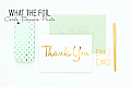 Thank You - Foil Occasion Card