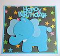 Wooden Blue Elephant