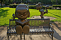 Peanuts Statues in Rice Park